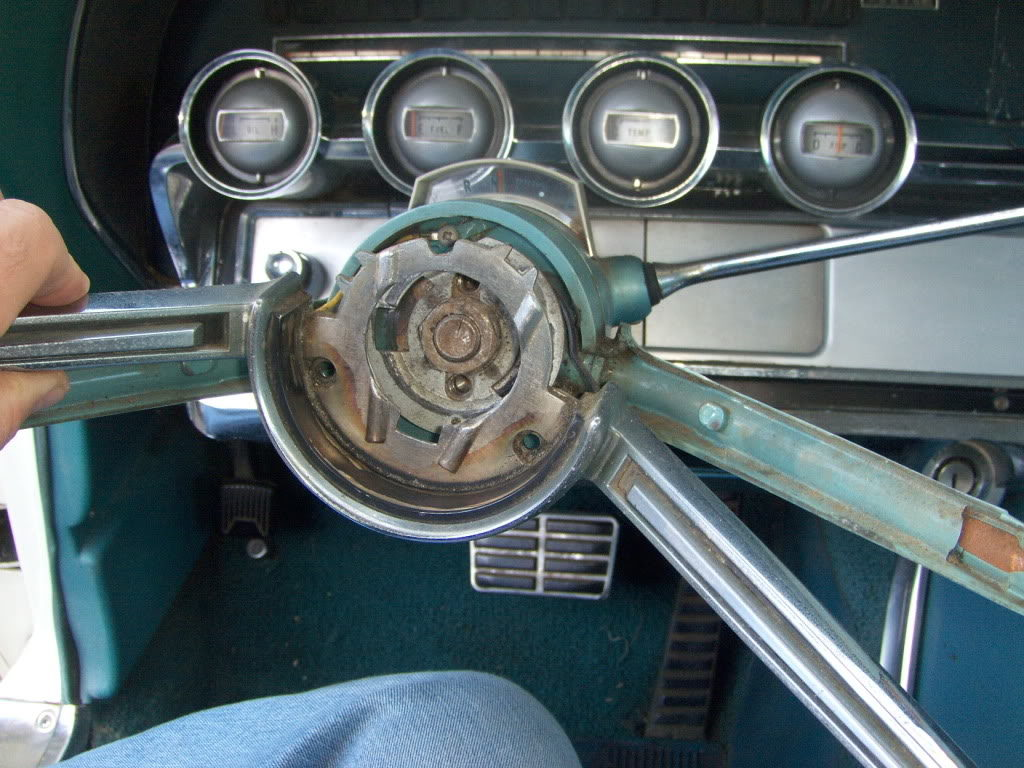 Steering Column Shifter Taking Flight Again 1965 Ford Thunderbird Wiring Diagram Removing The Horn Ring Is Easy