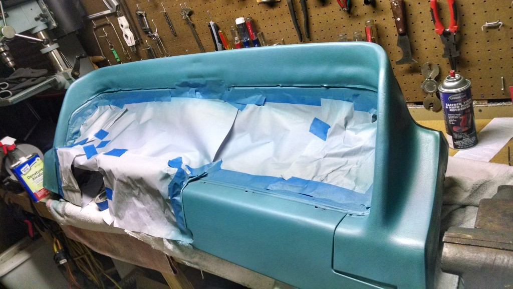 Masking, dying and painting the dash.