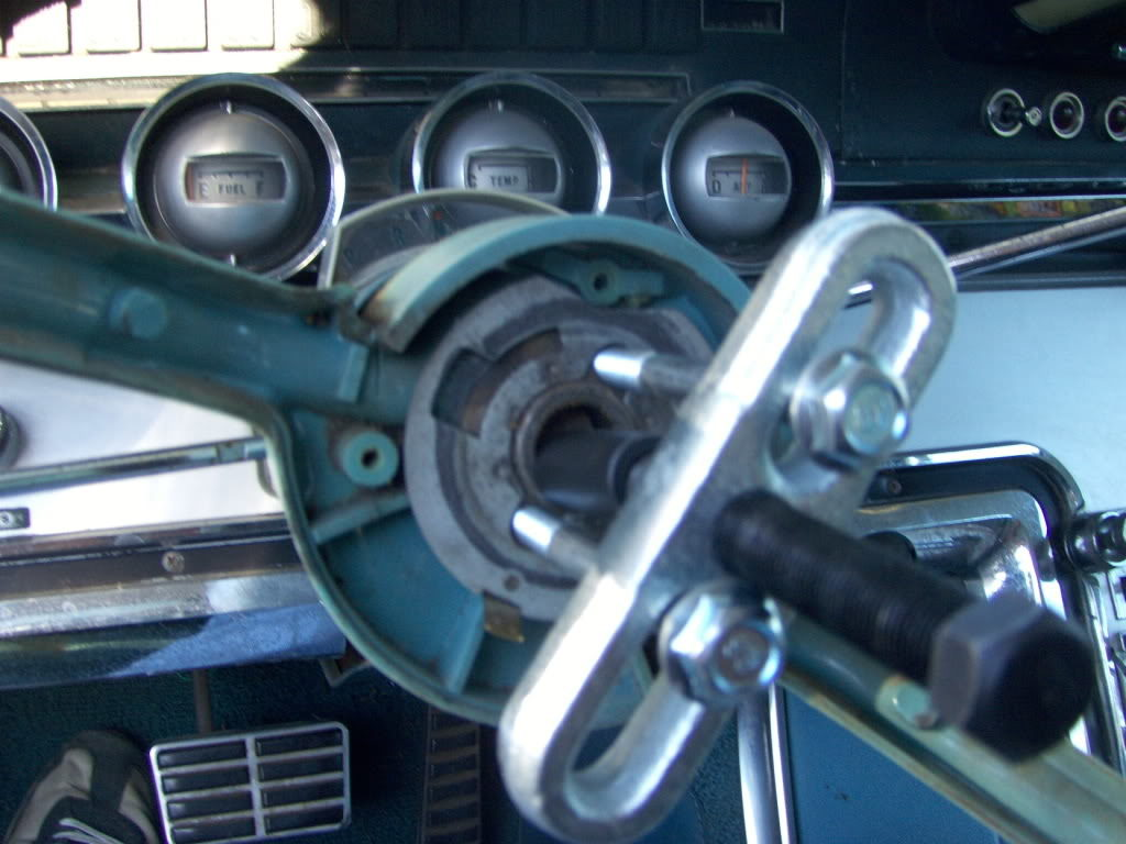Steering Column Shifter Taking Flight Again 1964 Thunderbird Engine Diagram You Will Absolutely Need A Wheel Puller To Get The Off Shaft